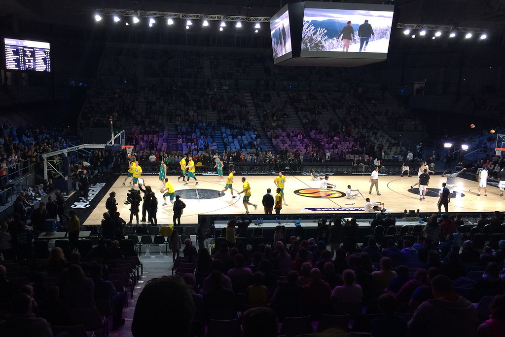 "The Australian Men's Basketball Team, ""The Boomers"" v the Pac12 All Stars, Game 2, Thursday 14 July 2016, Hisense Arena - Melbourne, July 2016"