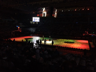 """Game 1: The Australian Men's Basketball Team (""""The Boomers"""") v the Pac 12 All Stars, Tuesday 12 July 2016, Hisense Arena, Melbourne."""