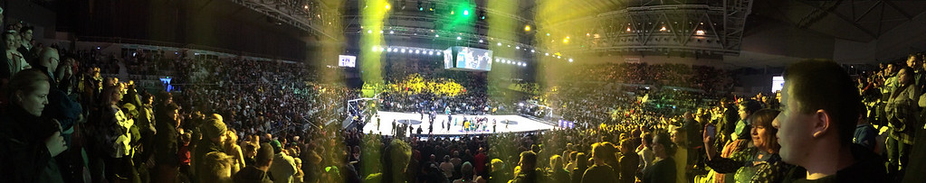 "Panoramic view of Hisense Arena - The Australian Men's Basketball Team, ""The Boomers"" v the Pac12 All Stars, Game 2, Thursday 14 July 2016, Hisense Arena - Melbourne, July 2016"