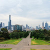 A view of Melbourne from the Shrine of Remembrance