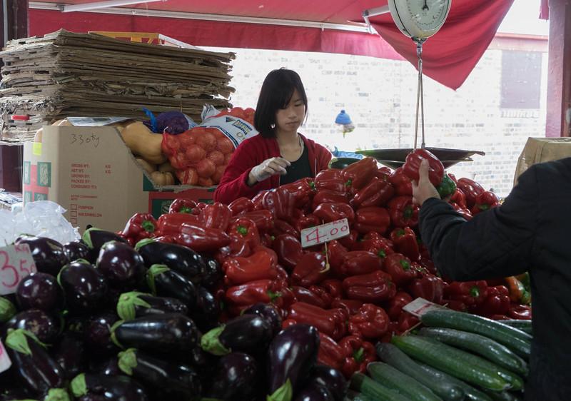 Vendor at Victoria Market