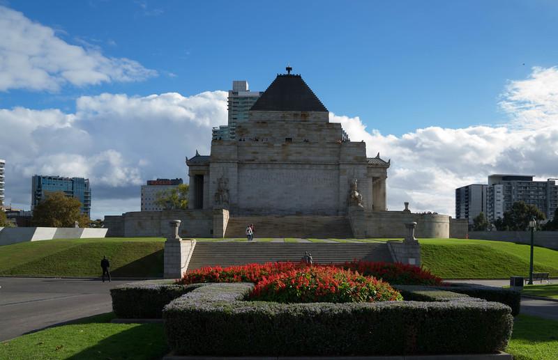 Back of WWI memorial