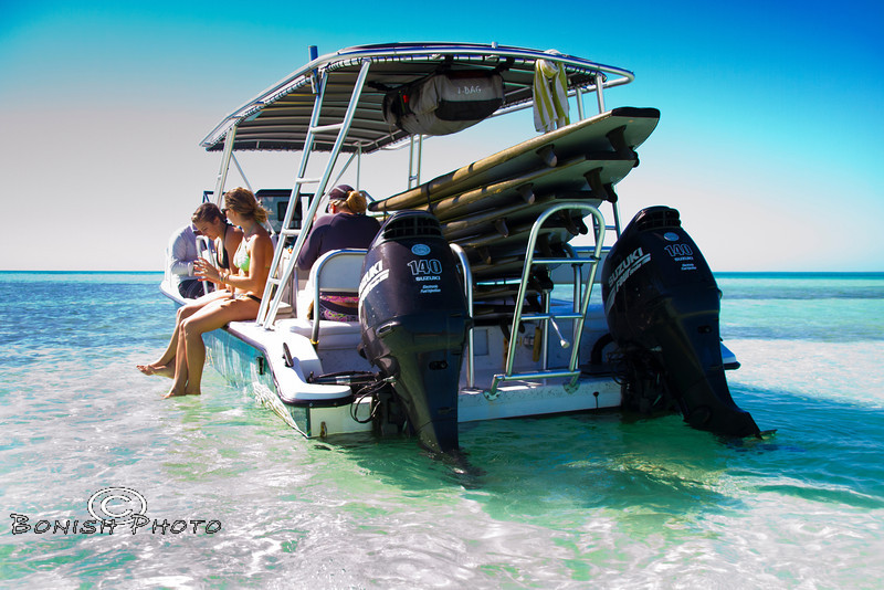 Hanging out in the Shallows on the Twin Vee - Mellow Ventures Key West - Photo by Pat Bonish