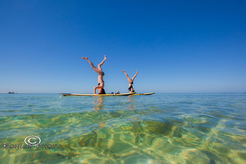 Head Stands on the Paddle Boards - Mellow Ventures Key West - Photo by Pat Bonish