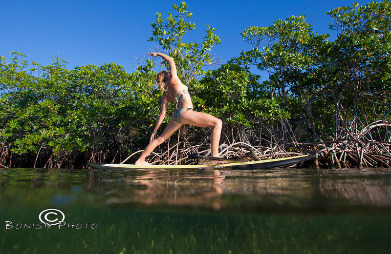 Yoga on the Paddle Board - Alexa Mae - Mellow Ventures Key West - Photo by Pat Bonish
