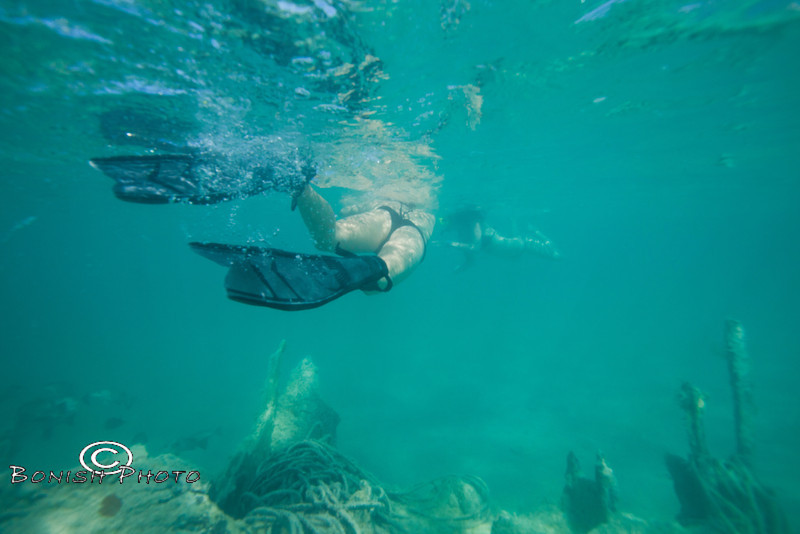 Following the Girls while snorkeling around the ship wreck - Mellow Ventures Key West - Photo by Pat Bonish