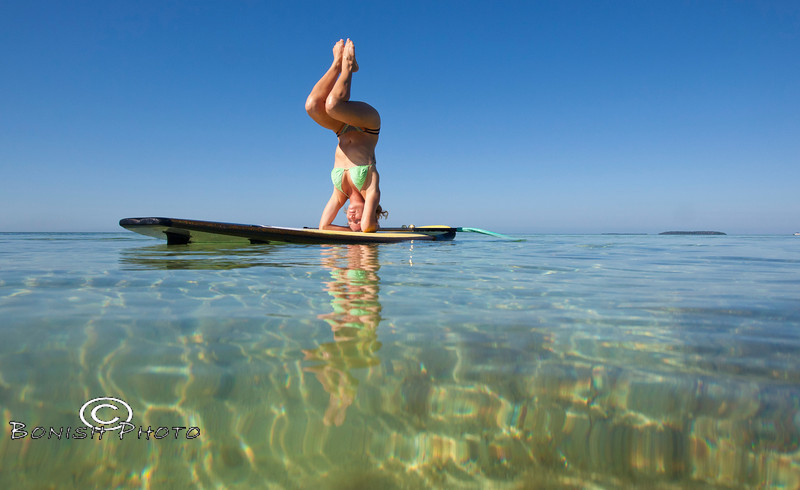 This takes serious balance - Alexa Mae Yoga Instructor - Mellow Ventures Key West - Photo by Pat Bonish