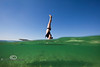 Underwater Photography mixes with Paddle Board Yoga - Mellow Ventures Key West - Photo by Pat Bonish
