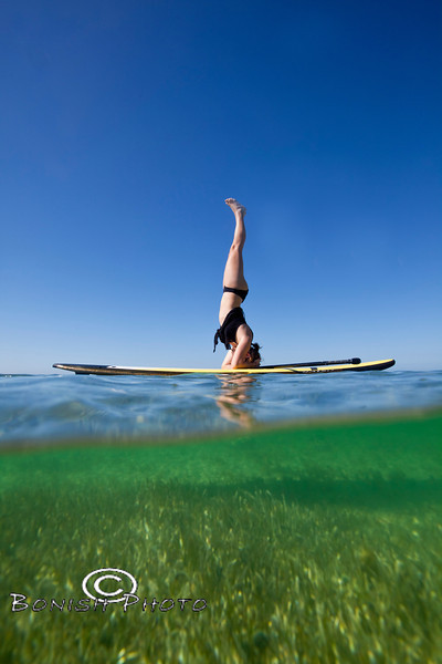 Split Shot of Paddle Board Yoga - Mellow Ventures Key West - Photo by Pat Bonish