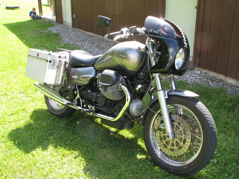 Cool Guzzi at the rally.