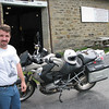 Dennis and his bike at the mine, do you think he had time take my photo with my camera?<br /> Nooo...