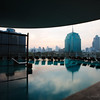 View from the pool deck of the Millennium Hilton on the river in Bangkok.