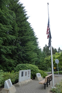 Memorial within the park