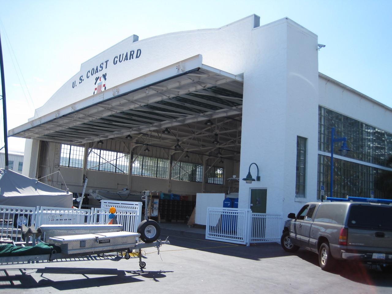 Seaplane hanger, Coast Guard base, now modern marina