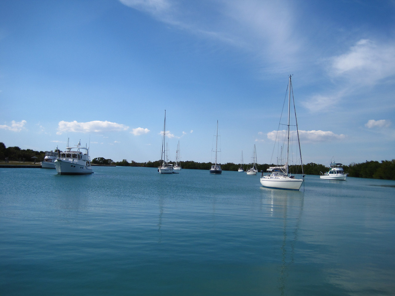 Looking out into this little harbor on Key Biscayne that provided shelter in bad weather.