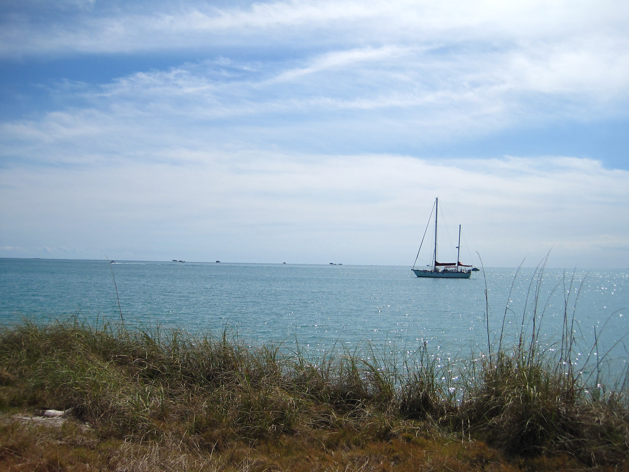 Looking out across Biscayne Bay from Key Biscayne