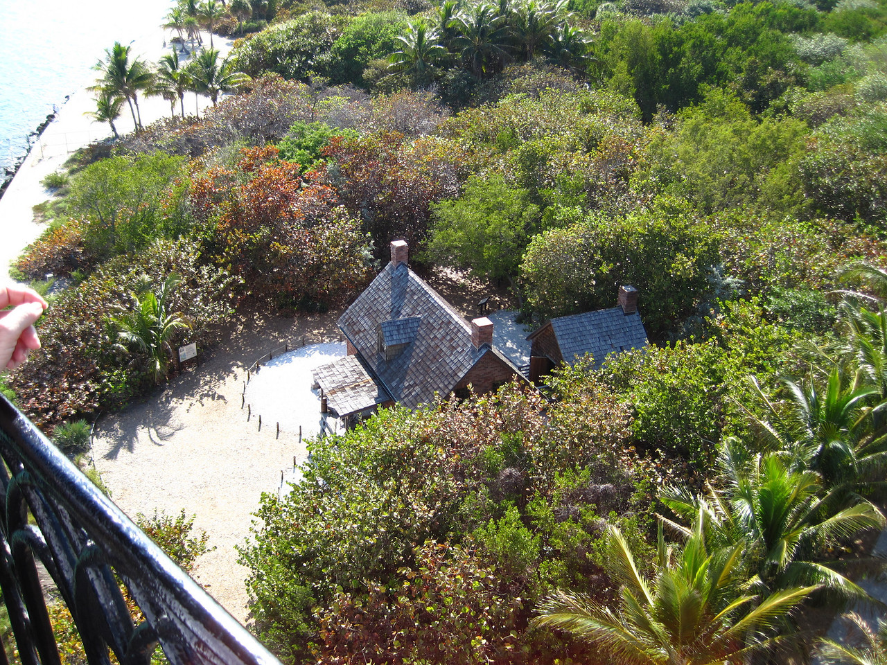 The lighthouse keepers quarters below