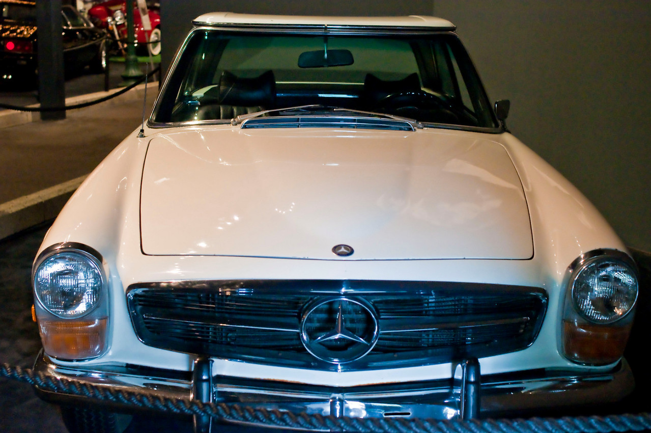 A white Mercedes that Elvis gave to Priscilla.  Probably the best car in the collection...