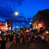 Memphis, Beale St, crowds at night