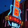 Memphis, Beale St, BB King's Blues Club, neon sign