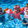 Jacob, Grace & Harry in the pool