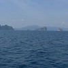Our first morning out and the weather is perfect. Deep blue waters and many islands beckon to us in the distance.