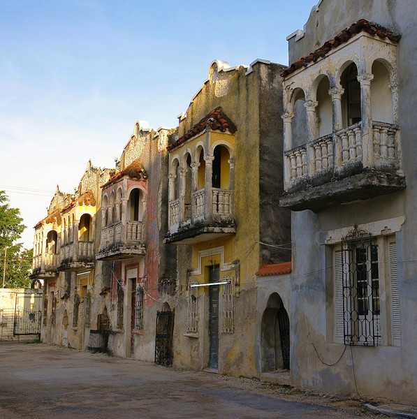 Five buildings in Merida, Mexico