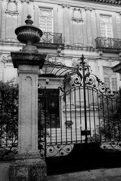 Gate and building, Merida, Mexico
