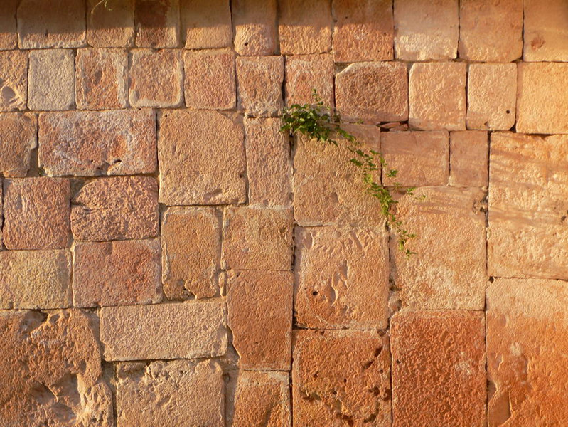 beautiful block wall, Ruinas Oxkintok