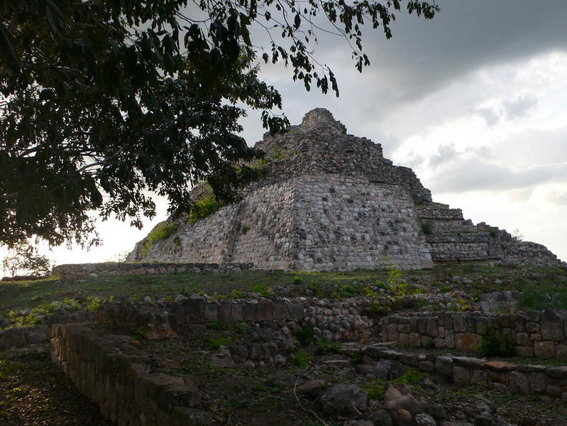 Pyramid at Ruinas Oxkintok