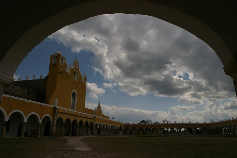 Izamal, a former convent town 60 kms outside of Merida