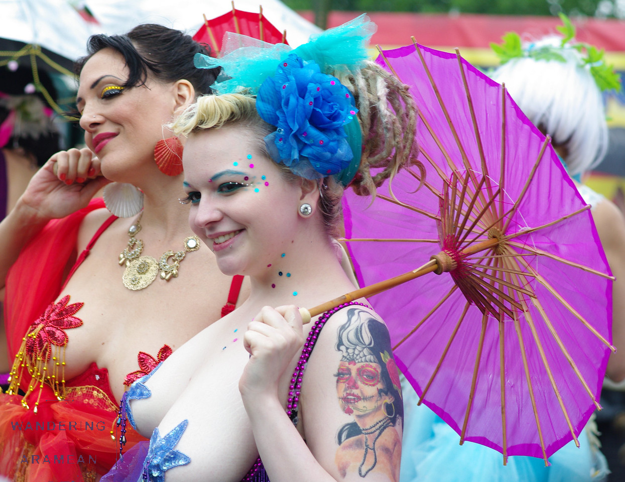 More of the parasol ladies