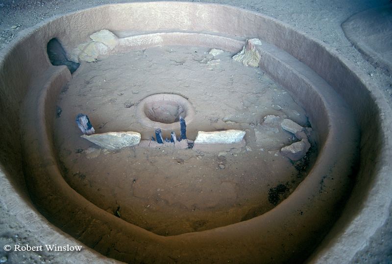 Kiva, Step House, Wetherill Mesa, Ancestral Pueblo Dwelling, Mesa Verde National Park, Colorado, Summer, USA, World Cultural Heritage Site