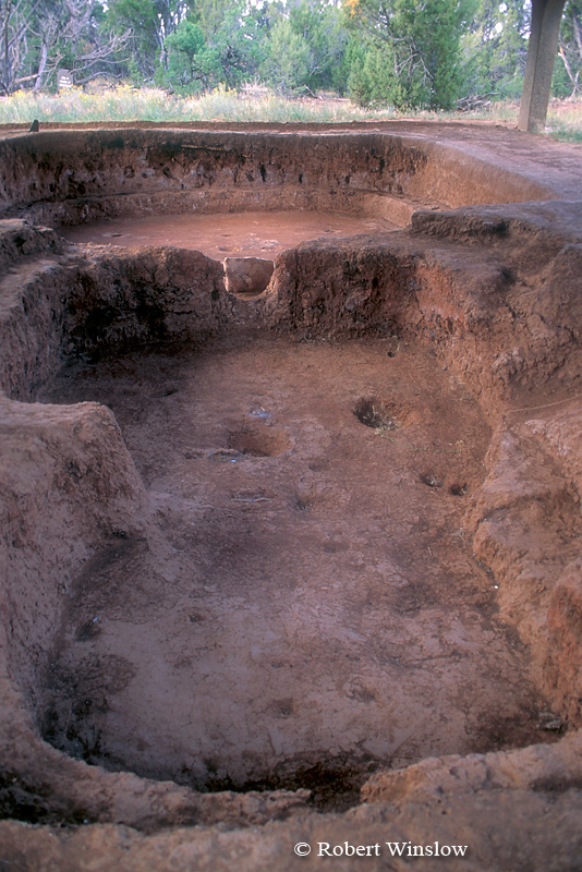 Modified Basketmaker Pithouse, Wetherill Mesa, Ancestral Pueblo Dwelling, Mesa Verde National Park, Colorado, Summer, USA, World Cultural Heritage Site