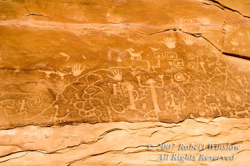 Petroglyphs, Mesa Verde National Park, Colorado, USA