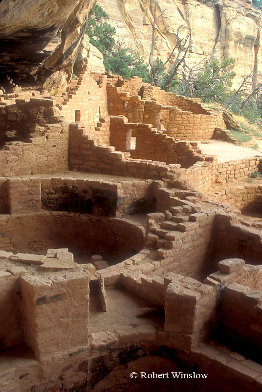 Kiva, Long House, Wetherill Mesa, Ancestral Pueblo Dwelling, Mesa Verde National Park, Colorado, Summer, USA, World Cultural Heritage Site
