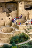 Tourists, Cliff Palace, Ancestral Pueblo Dwelling, Mesa Verde National Park, Colorado, Summer, USA, World Cultural Heritage Site