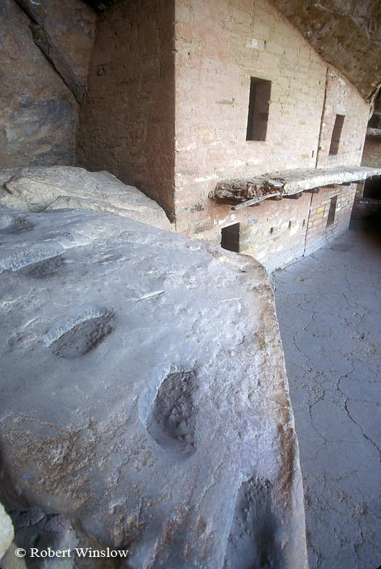 Hand and Toe Holds, Balcony House, Ancestral Pueblo Dwelling, Mesa Verde National Park, Colorado, USA, World Cultural Heritage Site