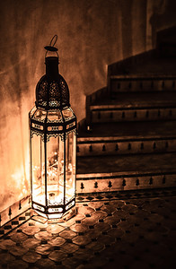 Lamp within a Riad