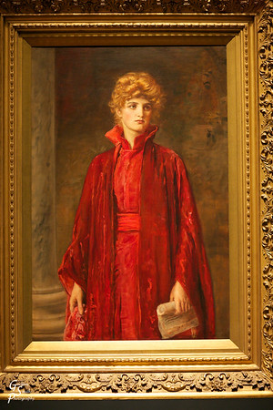 "Portia (Kate Dolan) Sir John Everett Millais, English, 1829-1896 picture of Kate Dolan (actress) dressed in role from ""Merchant of Venice"""