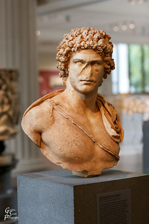 Marble Portrait Bust of a Young Man Roman