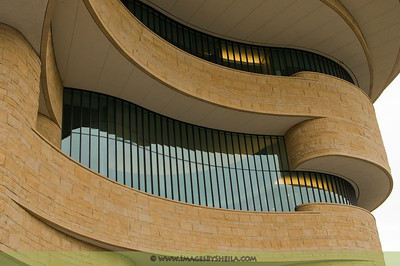 Shapes and contour of Smithsonian's National Museum of the American Indian.