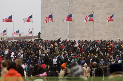 People shots during the Presidential Inauguration Concert - Jan 18, 2009.