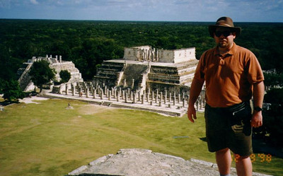 Chichen Itza, Mexico - At the top of the pyramid.