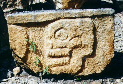 Chichen Itza, Mexico - Skull carving