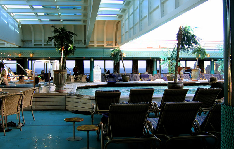 The Lido Deck on the ship.