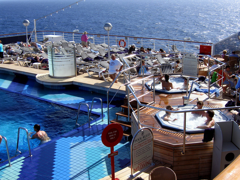The aft pool, deck 9.