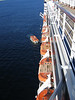 The lifeboats & tenders on the ms Oosterdam.