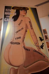 Woman as slab of meat