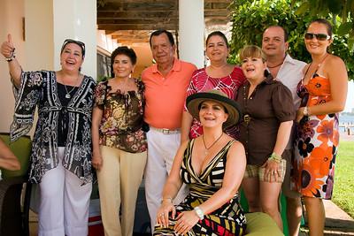 Ancona family photo at Villa C1, Cancun, Mexico.